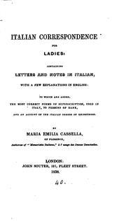 Cover of: Italian correspondence for ladies |