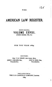 Cover of: American law register |