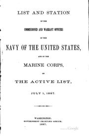 Cover of: List and Station of the Commissioned and Warrant Officers of the Navy of the ... |
