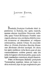 Cover of: Deusdedit cardinalis ... collectio canonum, ed. a P. Martinucci