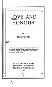 Cover of: Love and Honour