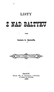 Cover of: Listy z nad Baltyku