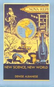 Cover of: New science, new world | Denise Albanese