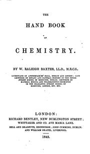 Cover of: The hand book of chemistry