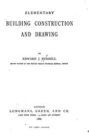 Cover of: Elementary building construction and drawing |
