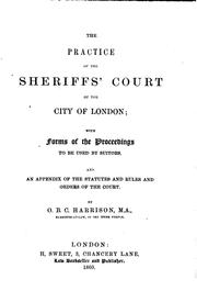 Cover of: The Practice of the Sheriffs