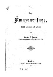 Cover of: Die Amazonensage