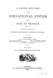 Cover of: A Chart and Key of the Educational System of the State of Michigan