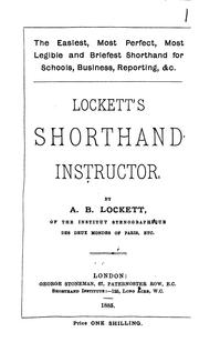 Cover of: The easiest ... shorthand ... Lockett's Shorthand instructor