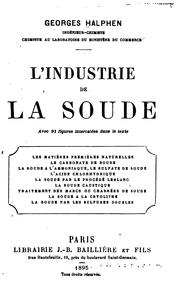 Cover of: L'Industrie de la soude