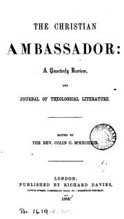 Cover of: The Christian Amabassador: