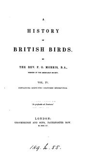 Cover of: A history of British birds |
