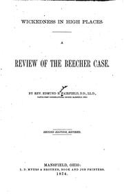 Cover of: Wickedness in High Places: A Review of the Beecher Case |