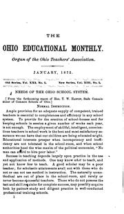 Cover of: The Ohio Educational Monthly: A Journal of School and Home Education |