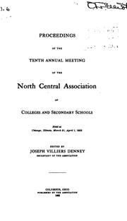 Cover of: Proceedings of the 1st-30th Annual Meeting of the North Central Associaiton of Colleges and ... |