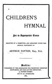 Cover of: Children's Hymnal: Set to Appropriate Tunes