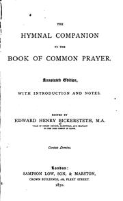 Cover of: The Hymnal Companion to the Book of Common Prayer: With Introduction and Notes |