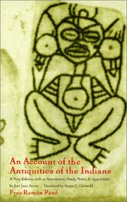 Cover of: An Account of the Antiquities of the Indians | Fray Ramon PanГ©