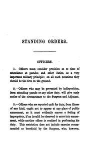Cover of: The standing orders of the 52nd light infantry