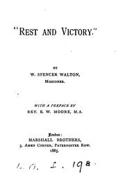 Cover of: 'Rest and victory'.