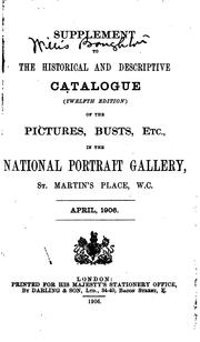 Cover of: Supplement to the Historical and Descriptive Catalogue of the Pictures ...