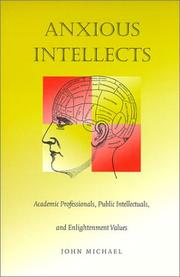 Cover of: Anxious Intellects | John Michael, John Michael