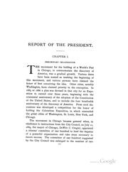 Cover of: Report of the President to the Board of Directors of the World