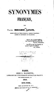 Cover of: Synonymes français