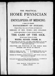 Cover of: The Practical home physician and encyclopedia of medicine |