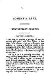 Cover of: Domestic life, or, Hints for daily use