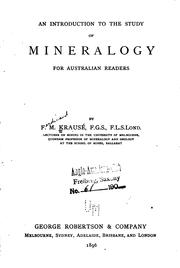 Cover of: An Introduction to the Study of Mineralogy for Australian Readers