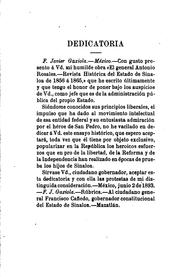 Cover of: El general Antonio Rosales: Revista histórica del Estado de Sinaloa de 1856 á 1865