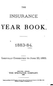 Cover of: The Insurance Year Book |