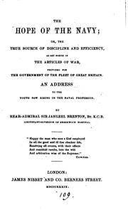 Cover of: The hope of the navy; or, The true source of discipline ... as set forth in the articles of war