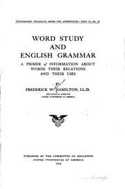 Cover of: Word Study and English Grammar |