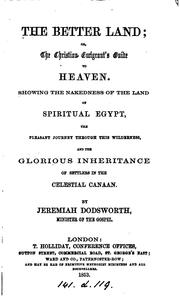 Cover of: The better land; or, The Christian emigrant