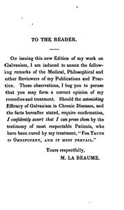 Cover of: On Galvanism, and its extraordinary efficacy in the cure of stomach, liver, nervous, and other ... |