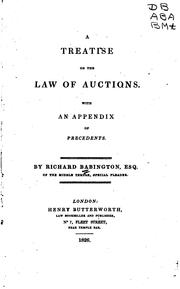 Cover of: A Treatise on the Law of Auctions |
