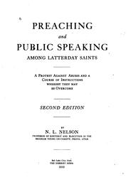 Cover of: Preaching and Public Speaking Among Latterday Saints: A Protest Against ... |