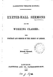 Cover of: Exeter-hall sermon for the working classes. Large-type verbatim ed |