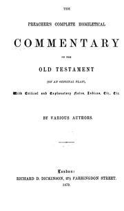 Cover of: Homiletical commentary on the Minor prophets |