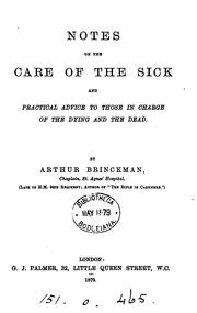 Cover of: Notes on the care of the sick