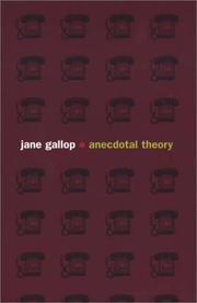 Cover of: Anecdotal theory