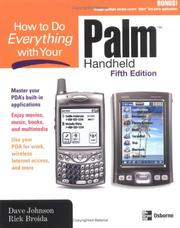 Cover of: How to Do Everything with Your Palm Handheld, Fifth Edition (How to Do Everything) | Dave Johnson