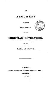 Cover of: An argument to prove the truth of the Christian revelation | Lawrence Parsons