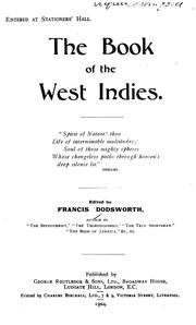 Cover of: ... The Book of the West Indies... | Francis Dodsworth