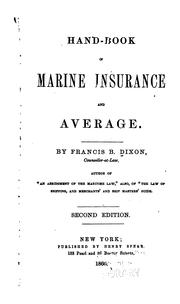 Hand-book of marine insurance and average by Francis B. Dixon