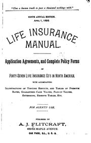 Cover of: Flitcraft... Life Insurance Manual ... | Allen J. Flitcraft