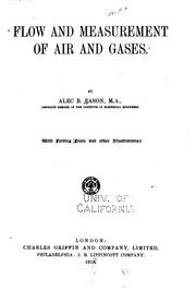 Flow and measurement of air and gases by Alec Birks Eason