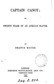 Cover of: Captain Canot; or, Twenty years of an African slaver, by B. Mayer